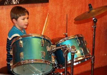 Franklin an den Drums